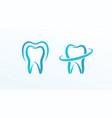 dentistry flat cartoon style logo concept vector image