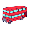 double decker red bus vector image vector image