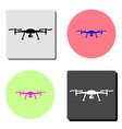 drone aerial camera flat icon vector image vector image