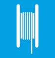 electric cable in coil icon white vector image