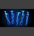 electricity lightning thunderbolt vector image