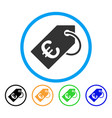 euro tag rounded icon vector image vector image