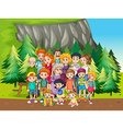 Family and park vector image vector image