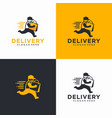 fast delivery logo design template vector image vector image