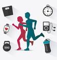 Fitness design vector image
