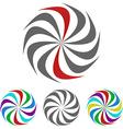 Geometric Swirl Logo Set vector image vector image