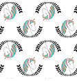 hand drawing unicorn pattern vector image vector image