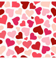 hearts seamless pattern background red heart vector image