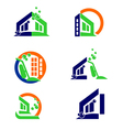 Home Cleaning Logo and Apps Icon vector image vector image