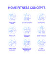 home fitness concept icons set vector image vector image