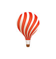 hot air balloon ride in amusement park flat icon vector image