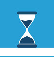 hourglass on blue background vector image vector image