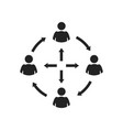icon relationship communication friendship vector image