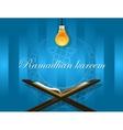 islam read quran bulb koran ramadan kareem mubarak vector image