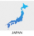 japan map in asia continent design vector image