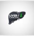 liver cancer logo icon vector image vector image