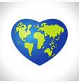 love earth logo concept vector image vector image