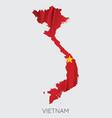 map vietnam vector image