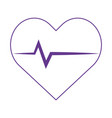 medical heartbeat cardiology health care isolated vector image vector image