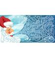 Merry Santa Claus i vector image