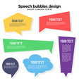 multi colored speech bubble set vector image