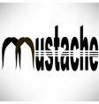 Mustache Silhouette Icon vector image vector image