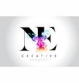 ne vibrant creative leter logo design vector image vector image