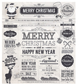 newspaper xmas labels vector image vector image