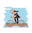 people in bicycle drive safely campaign vector image