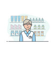 pharmacy store and pharmacist vector image