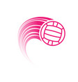 pink water polo ball with track vector image