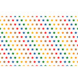 rainbow stars pattern on white background vector image