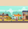Rural street orthogonal background
