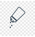 salt shaker concept linear icon isolated on vector image