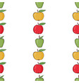 seamless pattern with colorful apples vector image vector image