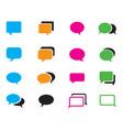 set color comic speech bubbles vector image