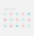 set of 15 editable science outline icons includes vector image vector image
