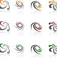 Set of Company symbols vector image vector image