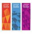 set of three abstract geometric vertical banners vector image