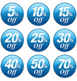 Shopping Sale Discount Badge in Blue vector image vector image
