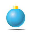 sky blue christmas ball 01 vector image