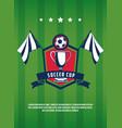 soccer cup vintage banner vector image