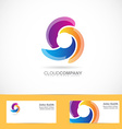 Spiral swirl rotation logo vector image vector image