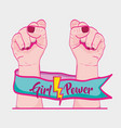 strong power hand protest revolution vector image vector image