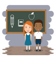 students in the classroom characters vector image vector image
