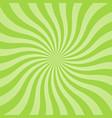 sun rays background green radiate sun beam burst vector image vector image