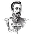 the grand duke nicholas vintage vector image vector image