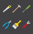 tools icon flat style vector image