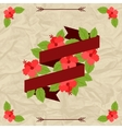 Tropical background with stylized hibiscus flowers vector image vector image