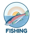 Trout fishing banner vector image vector image